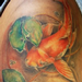 Koi Fish and Lily Pad Half Sleeve Tattoo Design Thumbnail